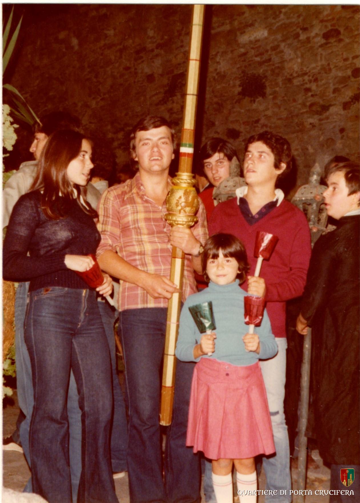 02 - 1976 - Franca Peruzzi - Ivan Luttini - Rossi Sauro - Mazzi Agostino e Piruello e la piccola Cinzia Peruzzi