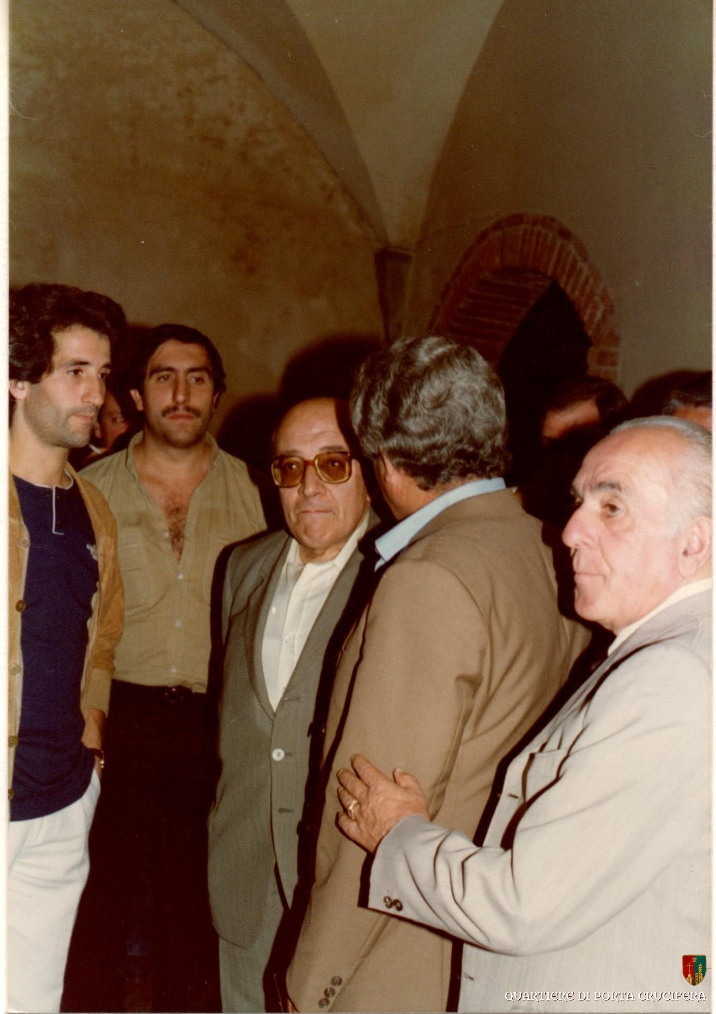 35 - 1981 inaugurazione delle nuove scuderie - Sindaco Ducci - Tonino Morelli - Aldo Verdelli