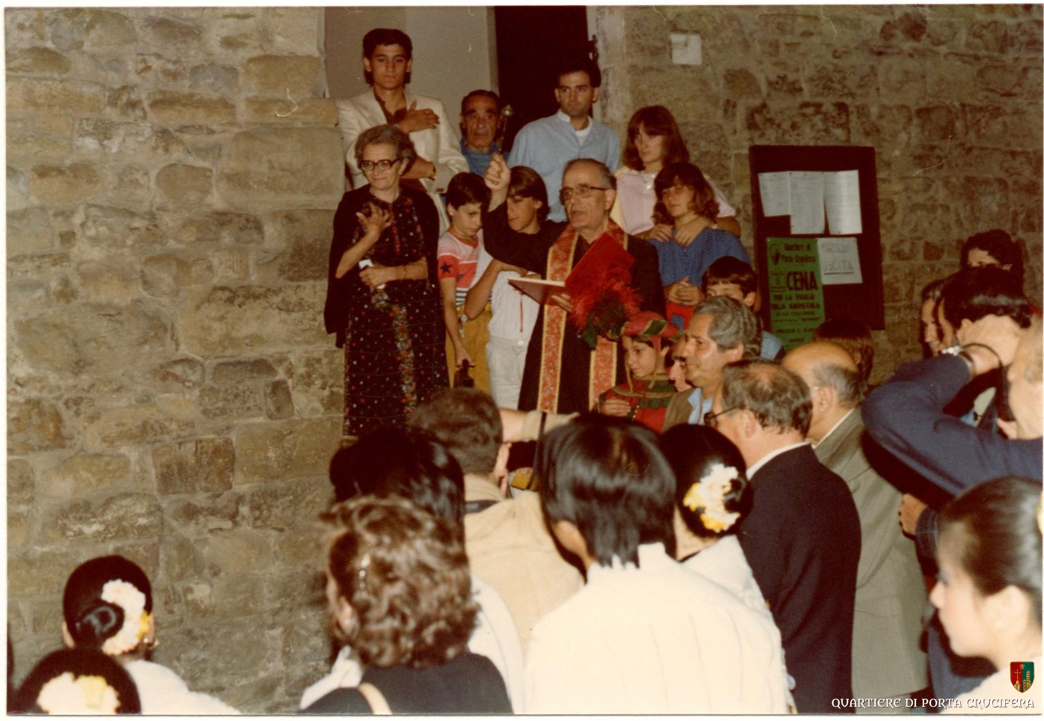36 - 1981 Scopertura lapide - Don Pietro Buresti - Giorgio Marmorini - Enzo Toci detto Violino - Ugo Morelli