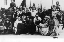 1949 1a vittoria del dopoguerra visita delle comparse al sanatorio garbasso 2 basso sx Tonino