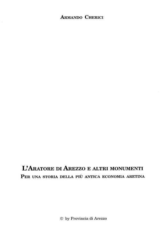 Aratore di Arezzo e altri monumenti - A. Cherici