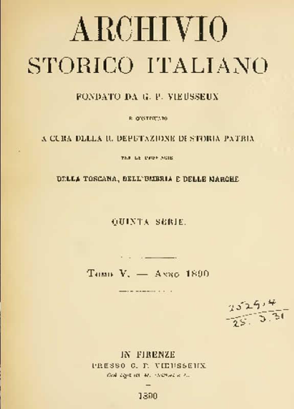 Archivio storico italiano - Congiura per liberare Arezzo dai fiorentini