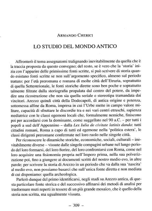 Arezzo Lo studio del mondo antico - A. Cherici