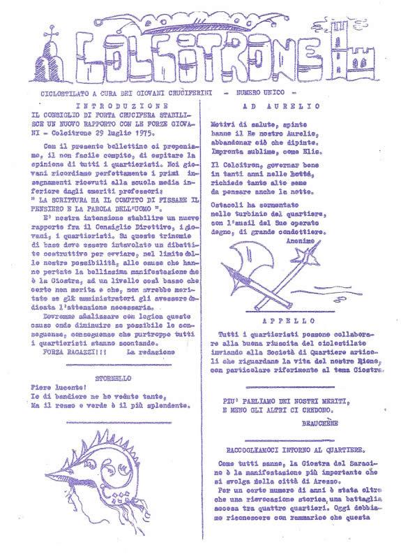 IL MAZZAFRUSTO - Anno 0 - COLCITRONE - Ciclostile - n. 02 - 1975