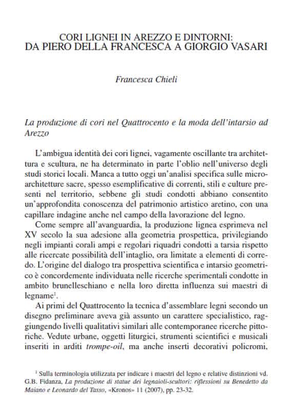 Cori lignei in Arezzo - Francesca Chieli