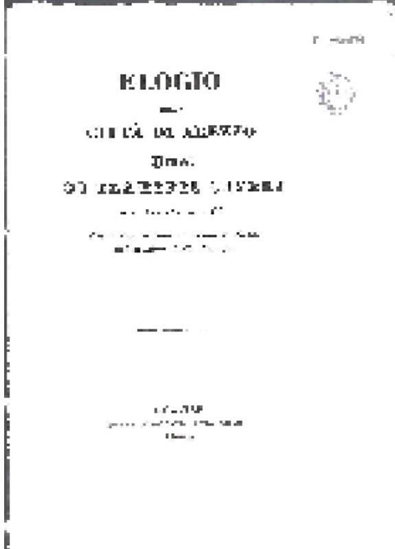 Elogio Citta di Arezzo - F. Severi - 1853