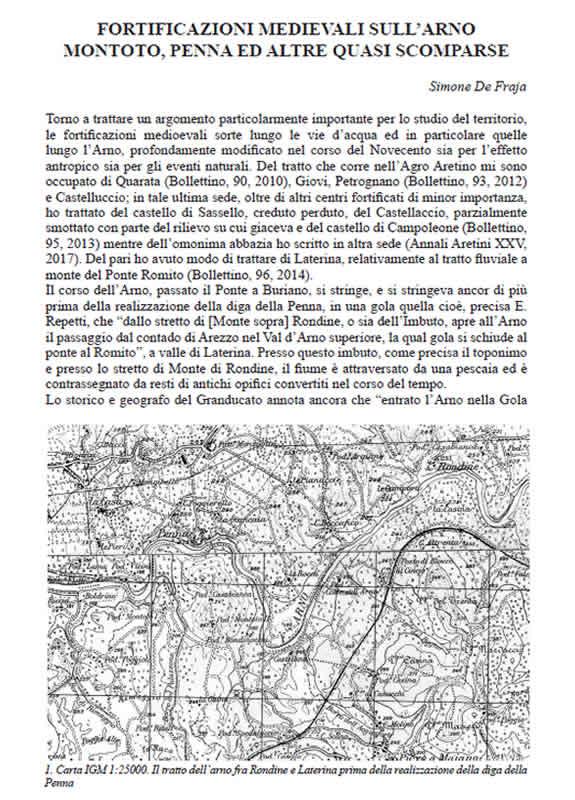 Fortificazioni medievali Arno Aretino - De Fraja