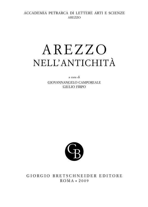 Genesi e sviluppo di Arezzo etrusca e romana - A. Cherici