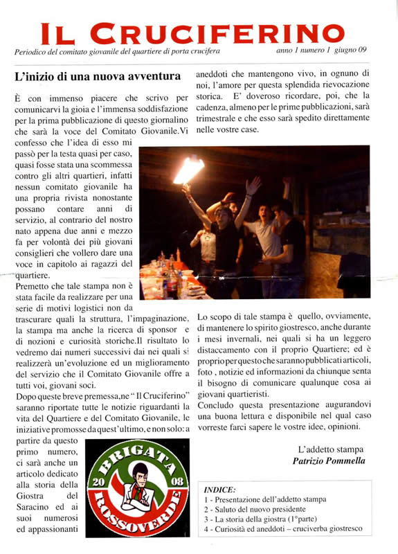 IL CRUCIFERINO - Anno 01 - n. 01 - giugno 2009