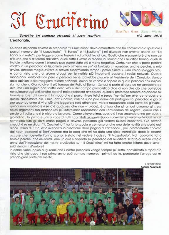 IL CRUCIFERINO - Anno 02 - n. 01 - giugno 2010