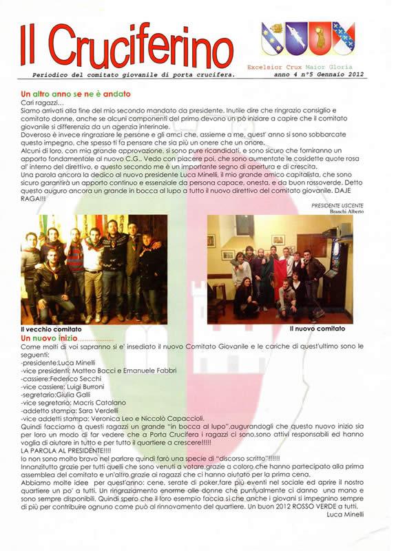 IL CRUCIFERINO - Anno 04 - n. 01 - gennaio 2012