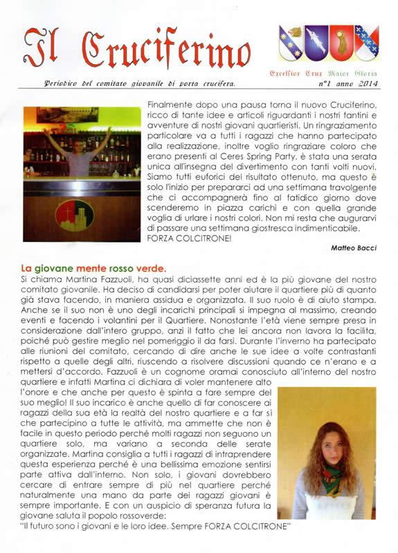IL CRUCIFERINO - Anno 05 - n. 01 - gennaio 2014