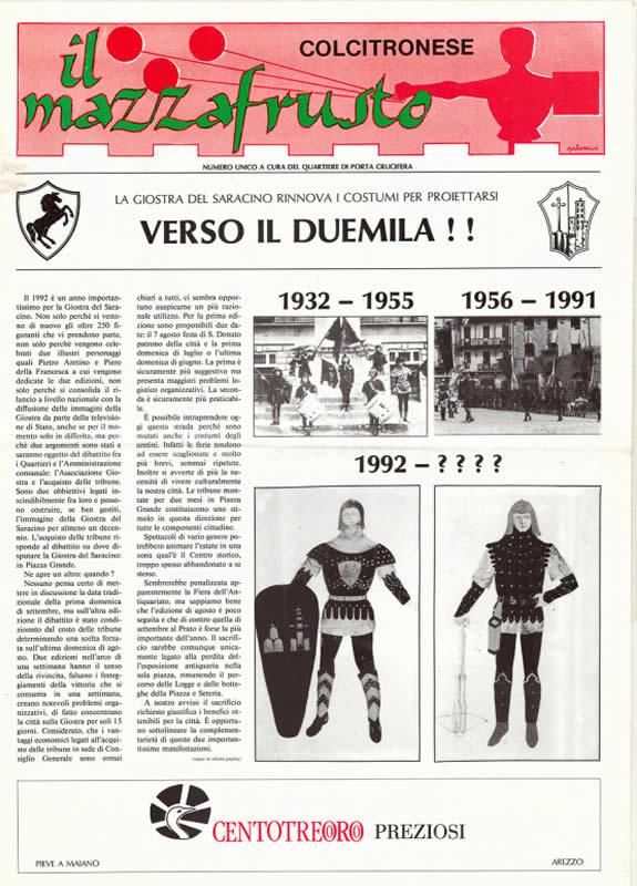 IL MAZZAFRUSTO - Anno 00 - Numero Unico - 1992