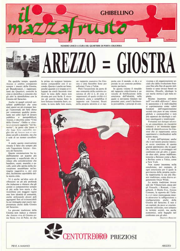 IL MAZZAFRUSTO - Anno 00 - Numero Unico - 1993