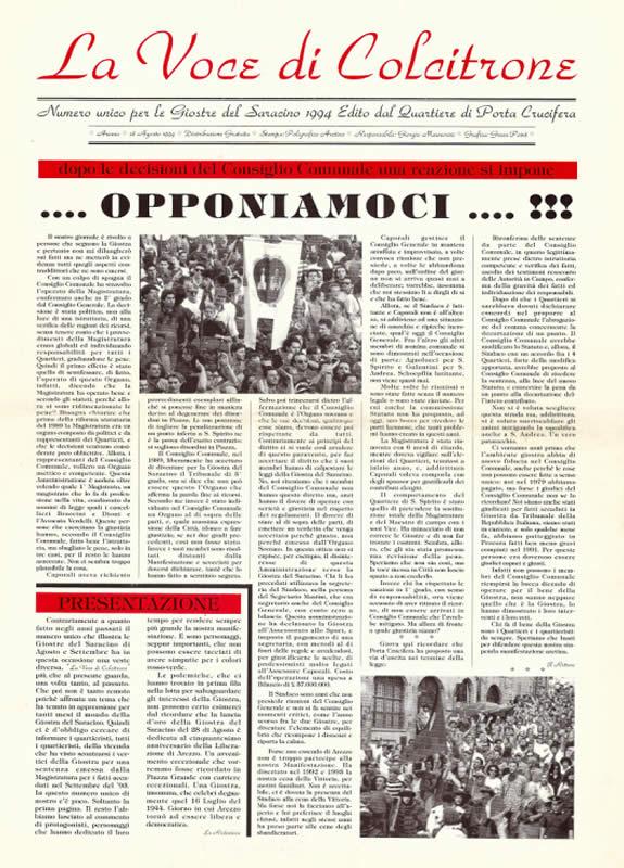 IL MAZZAFRUSTO - Anno 00 - Numero Unico - 1994