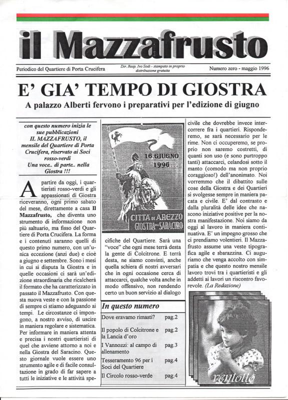 IL MAZZAFRUSTO - Anno 01 - n. 00 - maggio 1996