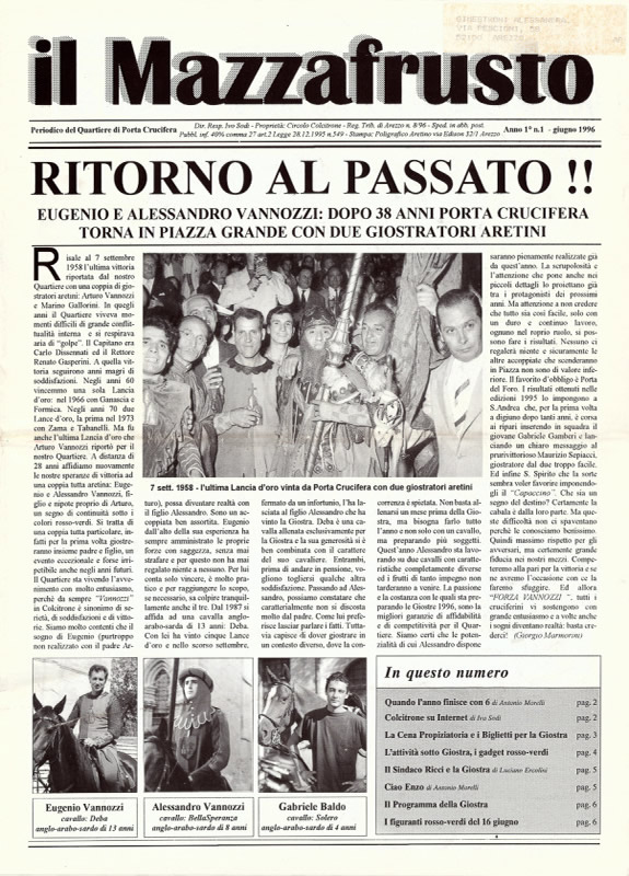IL MAZZAFRUSTO - Anno 01 - n. 01 - giugno 1996