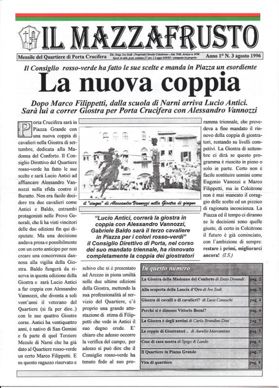 IL MAZZAFRUSTO - Anno 01 - n. 03 - agosto 1996