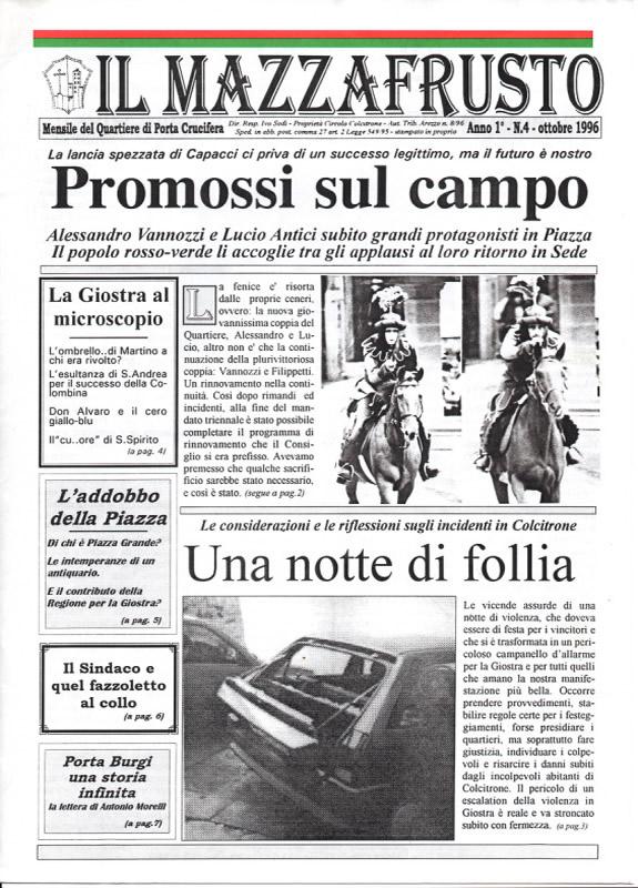 IL MAZZAFRUSTO - Anno 01 - n. 04 - ottobre 1996