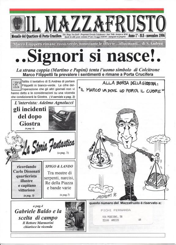 IL MAZZAFRUSTO - Anno 01 - n. 05 - novembre 1996