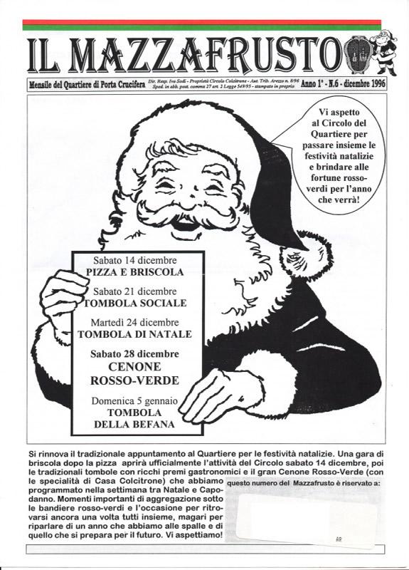 IL MAZZAFRUSTO - Anno 01 - n. 06 - dicembre 1996