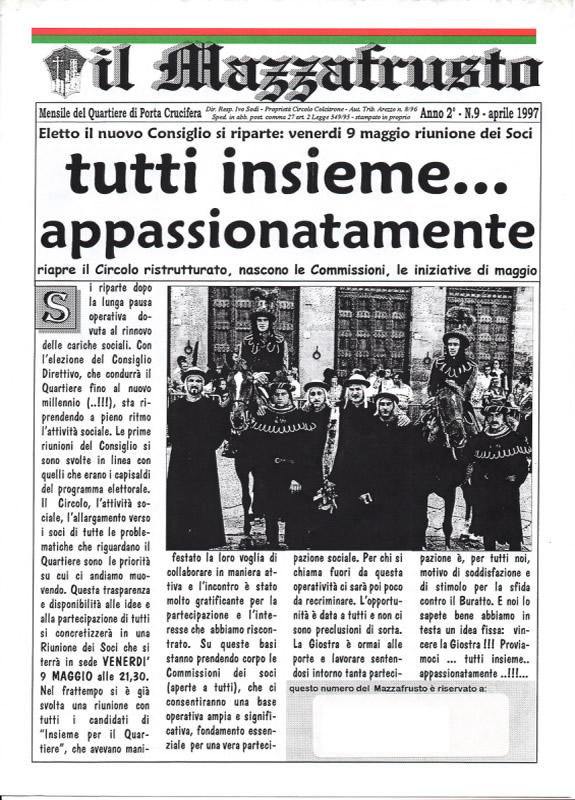 IL MAZZAFRUSTO - Anno 02 - n. 09 - aprile 1997