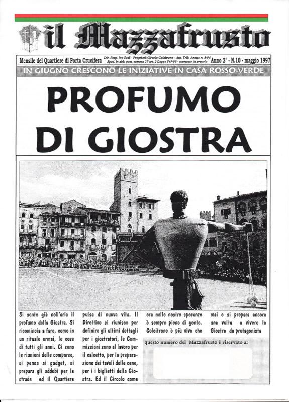 IL MAZZAFRUSTO - Anno 02 - n. 10 - maggio 1997