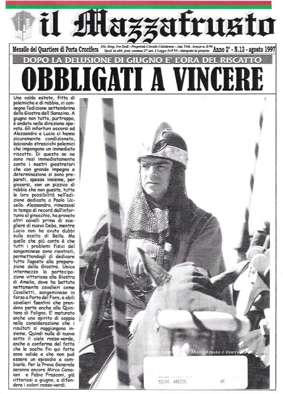 IL MAZZAFRUSTO - Anno 02 - n. 13 - agosto 1997