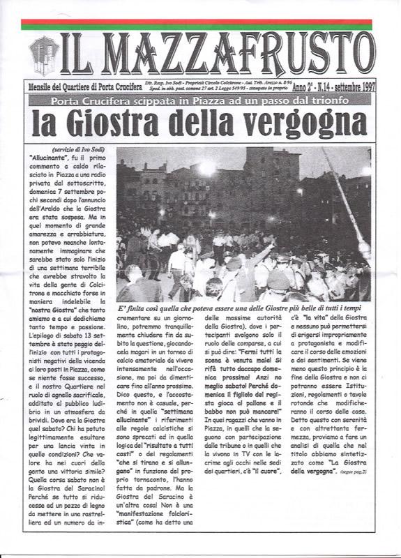 IL MAZZAFRUSTO - Anno 02 - n. 14 - settembre 1997