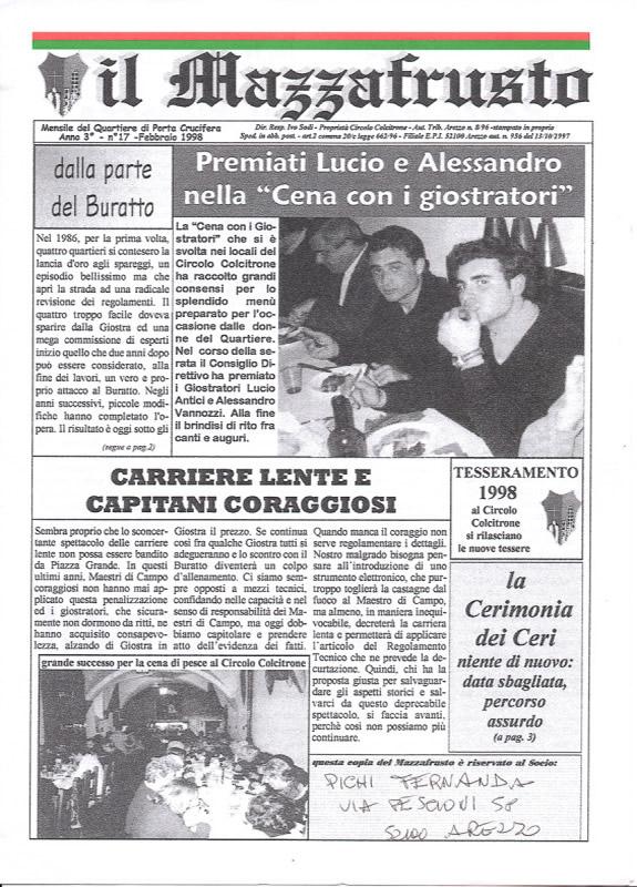 IL MAZZAFRUSTO - Anno 03 - n. 17 - febbraio 1998