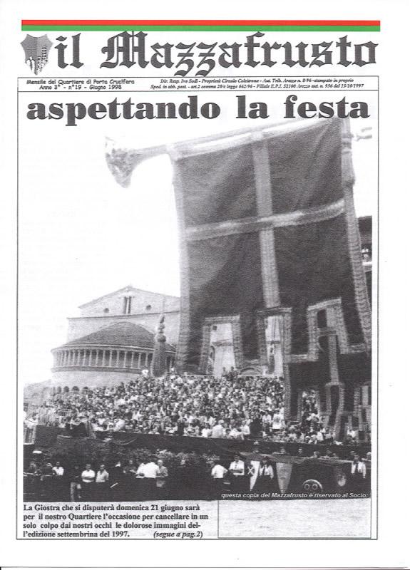 IL MAZZAFRUSTO - Anno 03 - n. 19 - giugno 1998