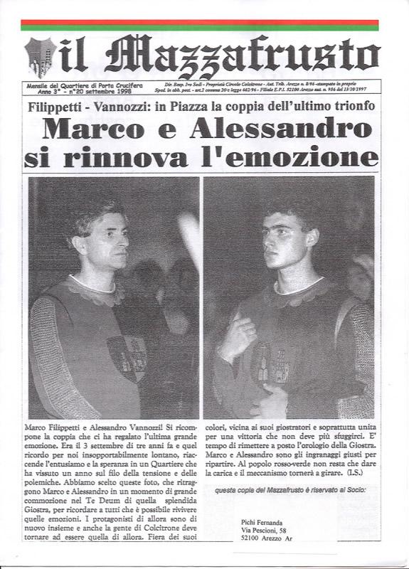 IL MAZZAFRUSTO - Anno 03 - n. 20 - settembre 1998