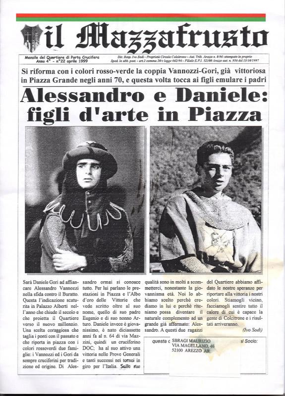 IL MAZZAFRUSTO - Anno 04 - n. 22 - aprile 1999