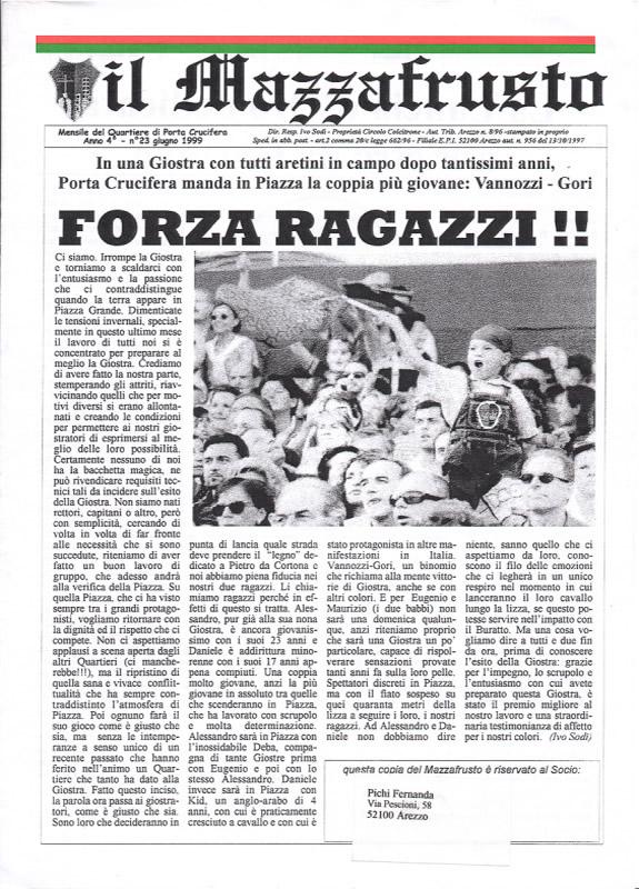 IL MAZZAFRUSTO - Anno 04 - n. 23 - giugno 1999