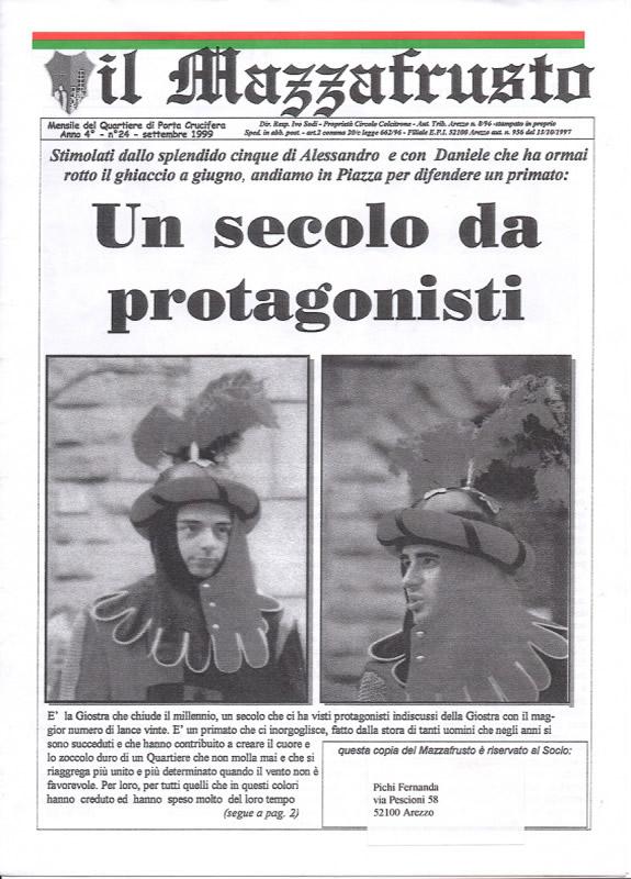 IL MAZZAFRUSTO - Anno 04 - n. 24 - settembre 1999