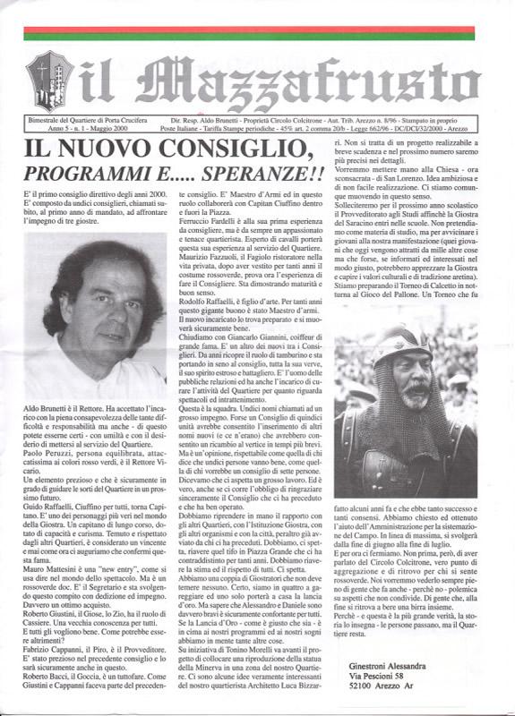 IL MAZZAFRUSTO - Anno 05 - n. 01 - maggio 2000