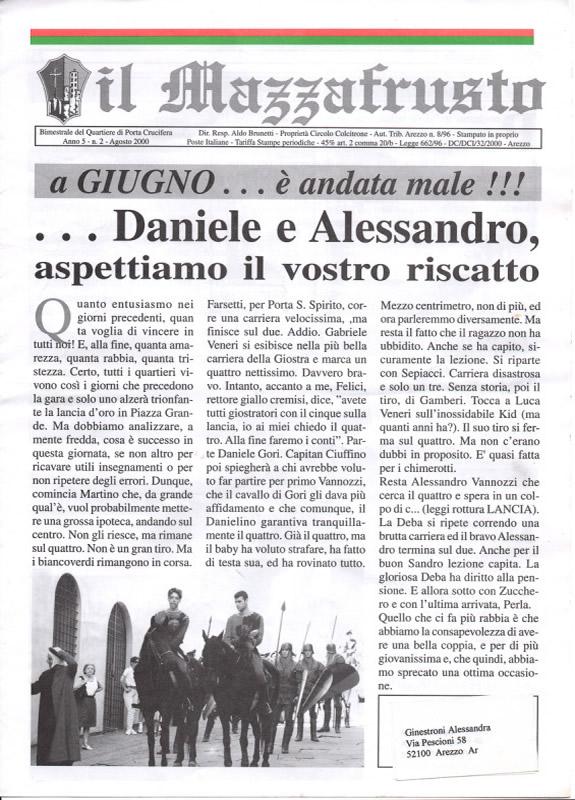 IL MAZZAFRUSTO - Anno 05 - n. 02 - agosto 2000