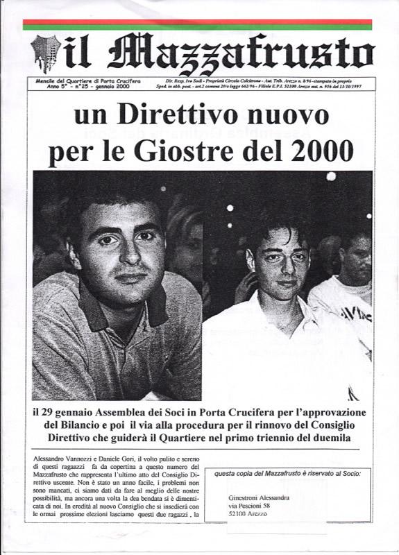 IL MAZZAFRUSTO - Anno 05 - n. 25 - gennaio 2000