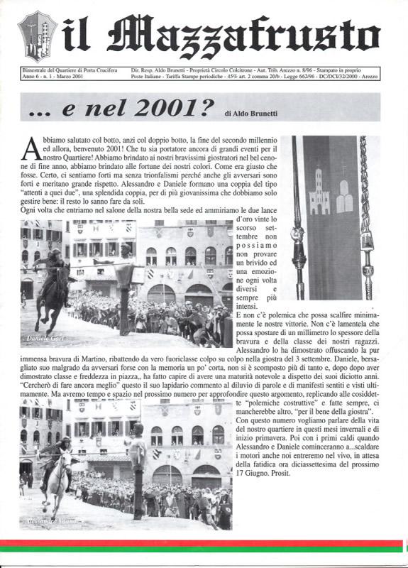 IL MAZZAFRUSTO - Anno 06 - n. 01 - marzo 2001