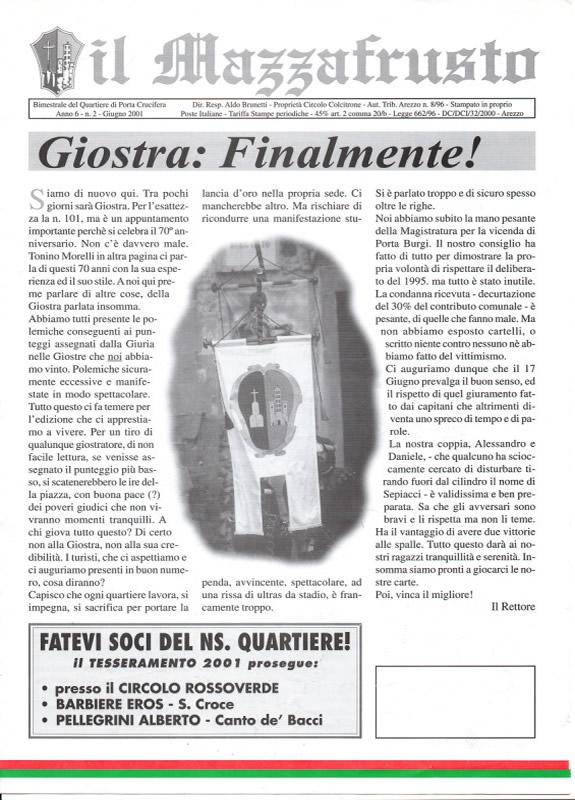 IL MAZZAFRUSTO - Anno 06 - n. 02 - giugno 2001