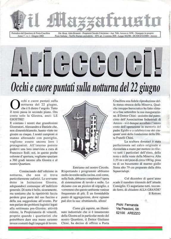 IL MAZZAFRUSTO - Anno 07 - n. 01 - giugno 2002