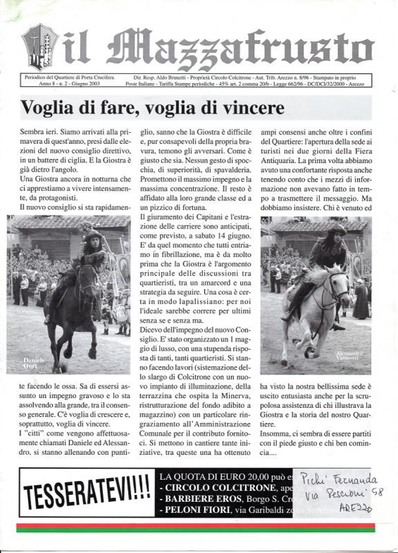 IL MAZZAFRUSTO - Anno 08 - n. 02 - giugno 2003