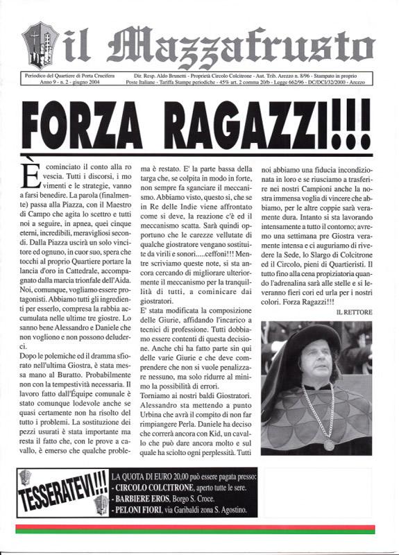IL MAZZAFRUSTO - Anno 09 - n. 02 - giugno 2004