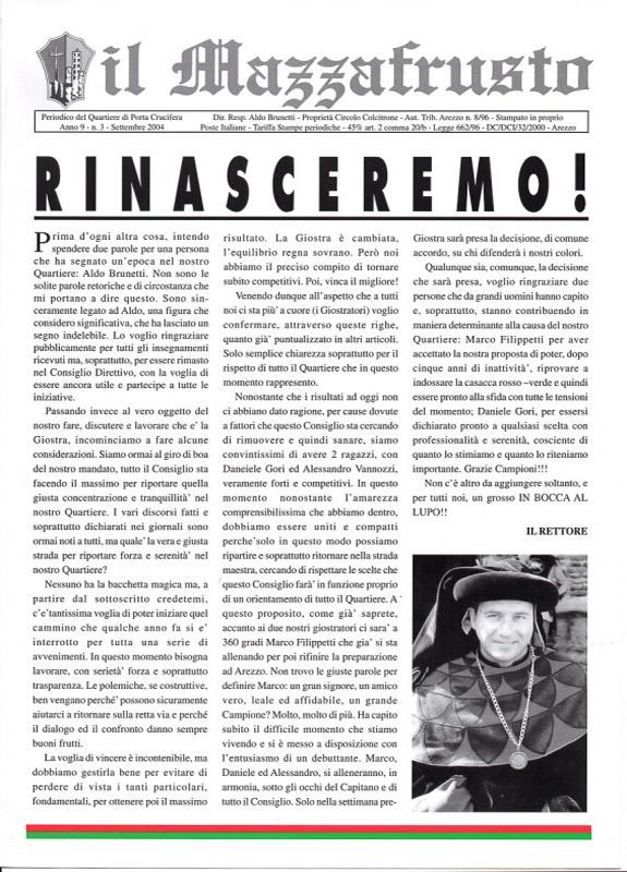 IL MAZZAFRUSTO - Anno 09 - n. 03 - settembre 2004