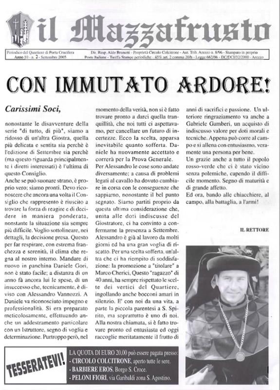 IL MAZZAFRUSTO - Anno 10 - n. 02 - settembre 2005