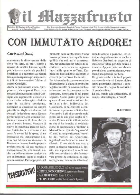 IL MAZZAFRUSTO - Anno 10 - n. 03 - settembre 2005