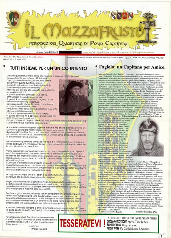 IL MAZZAFRUSTO - Anno 11 - n. 01 - febbraio 2007