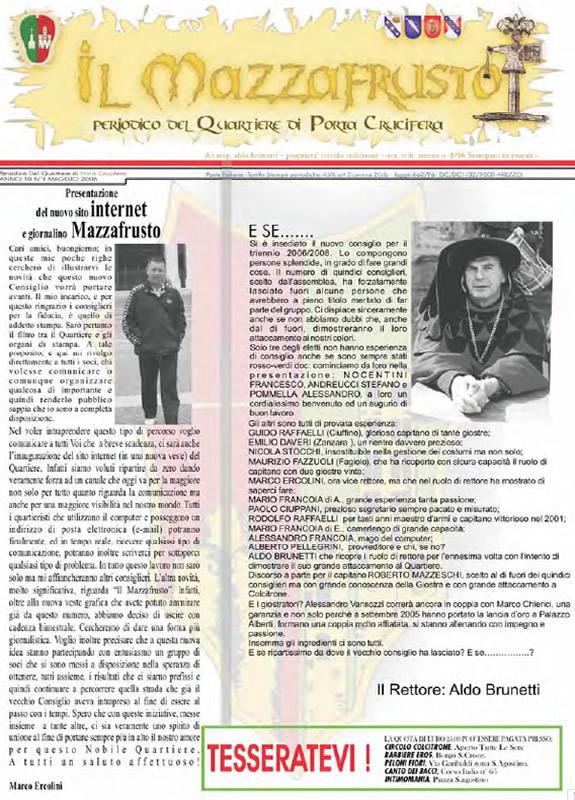 IL MAZZAFRUSTO - Anno 11 - n. 01 - maggio 2006