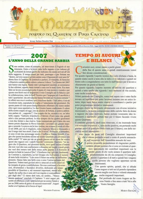 IL MAZZAFRUSTO - Anno 11 - n. 03 - dicembre 2007