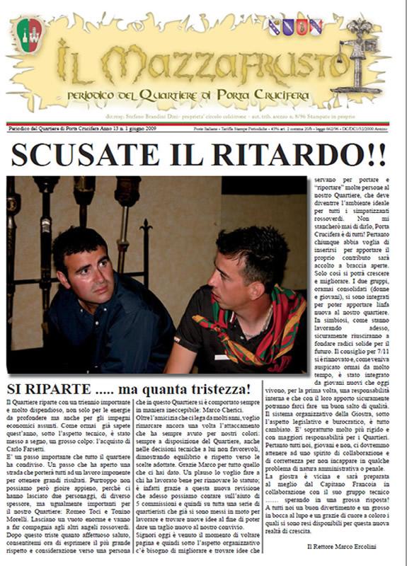 IL MAZZAFRUSTO - Anno 13 - n. 01 - giugno 2009